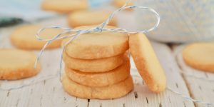 stacked biscuits with background biscuits