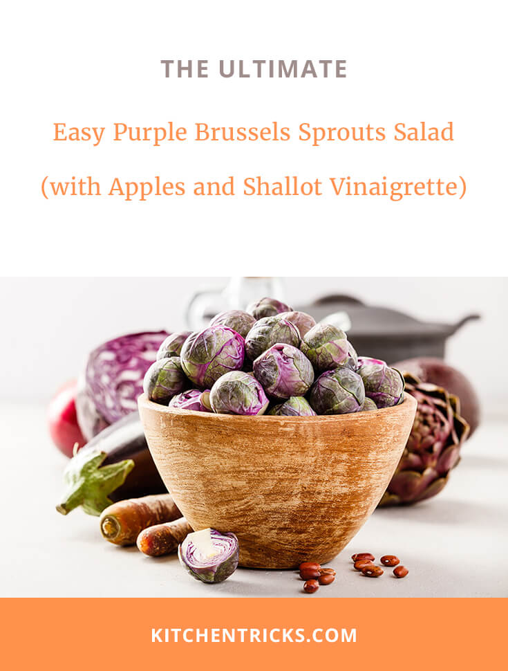 purple brussels sprouts salad with apples 2 XS