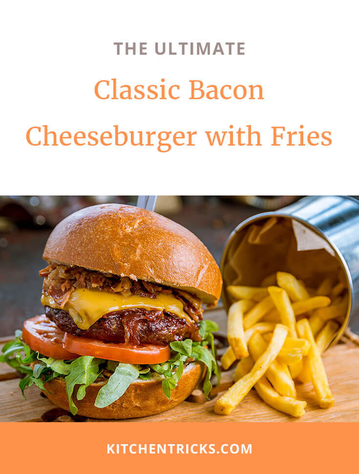 Classic Bacon Cheeseburger with Fries 2 XS