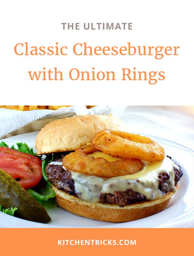 Classic Cheeseburger with Onion Rings 2 XS